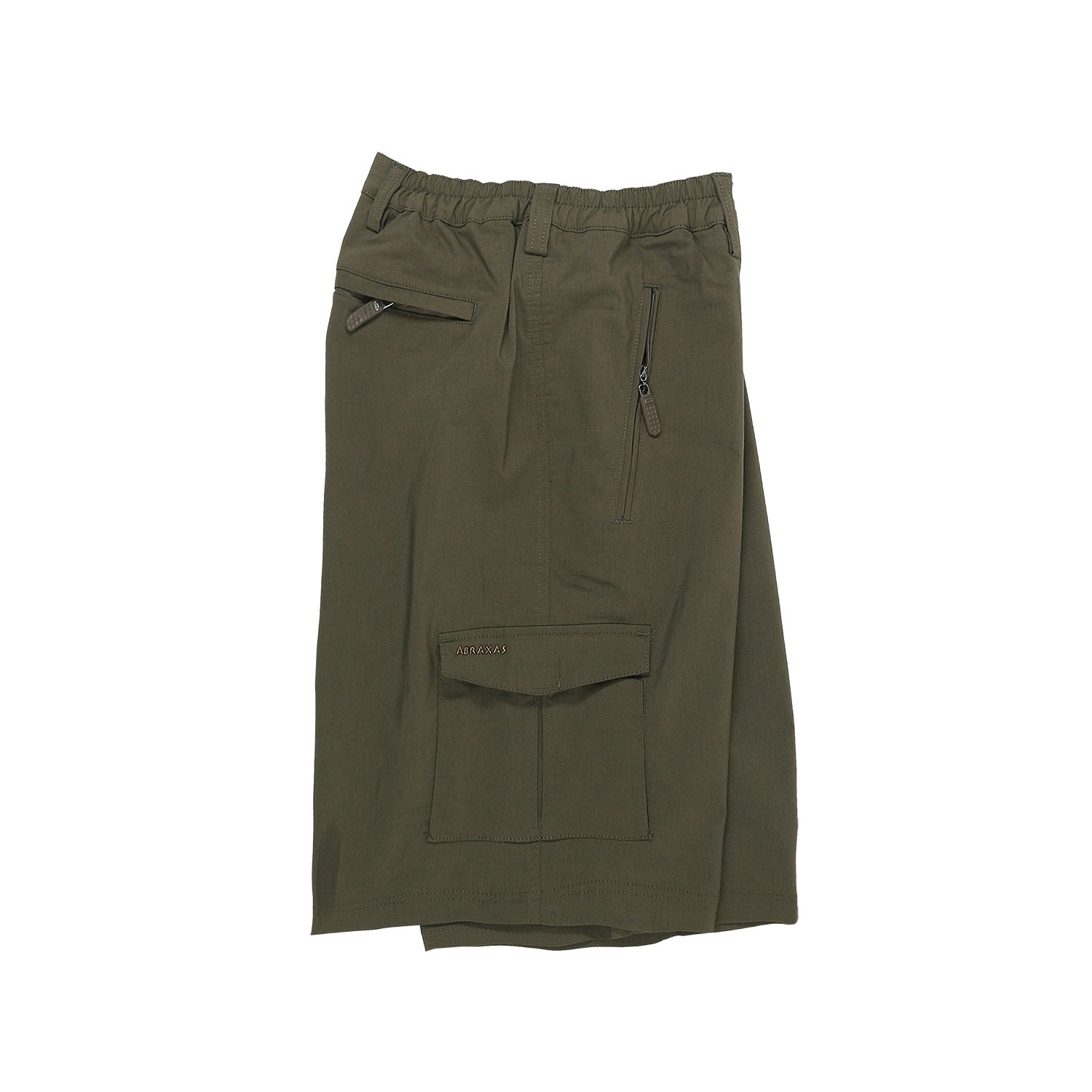 Detail Image to Outdoor Bermuda in khaki by Abraxas up to oversize 10XL