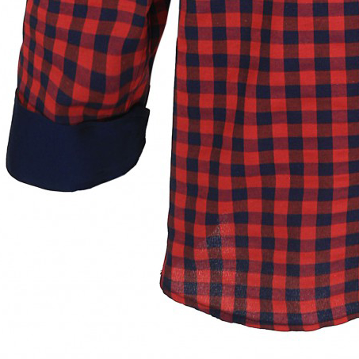 Detail Image to Checked shirt by Lavecchia in oversize up to 7XL