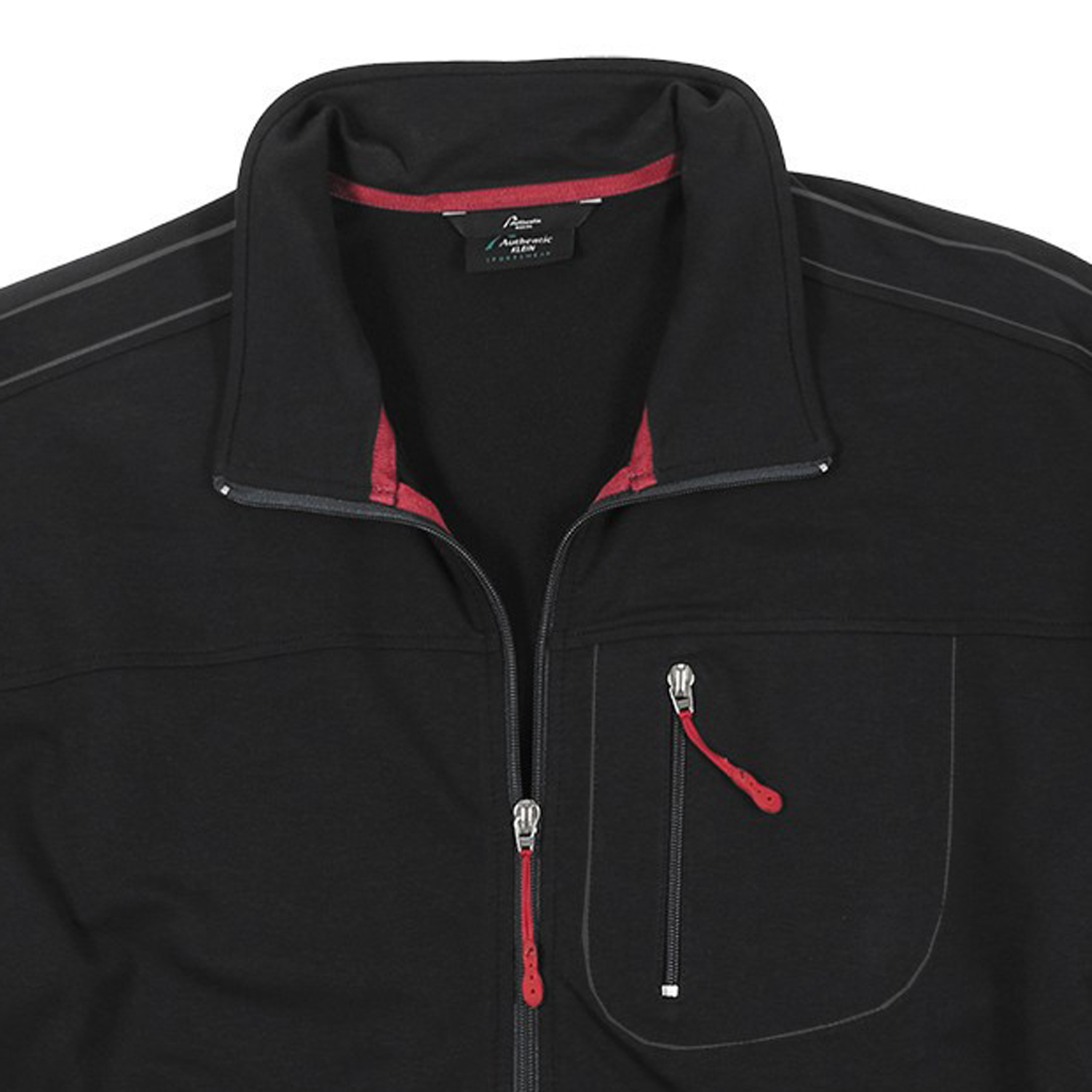 Detail Image to Sports and leisure jacket in black, plus sizes by AUTHENTIC KLEIN