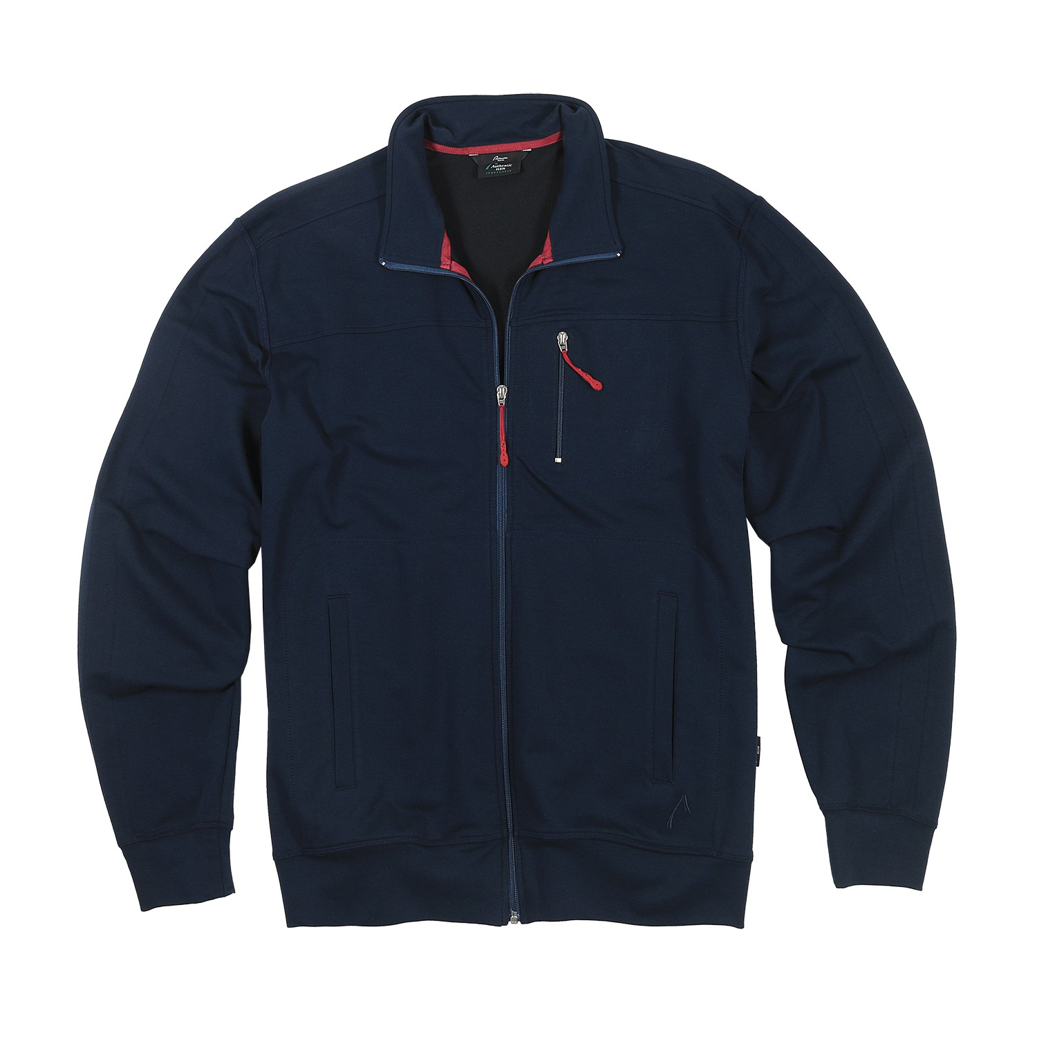 Detail Image to Stocky size sports and leisure jacket in blue, plus sizes by AUTHENTIC KLEIN