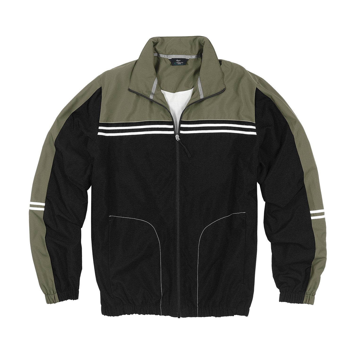 Detail Image to Stocky size sports and leisure jacket in black, plus sizes by AUTHENTIC KLEIN
