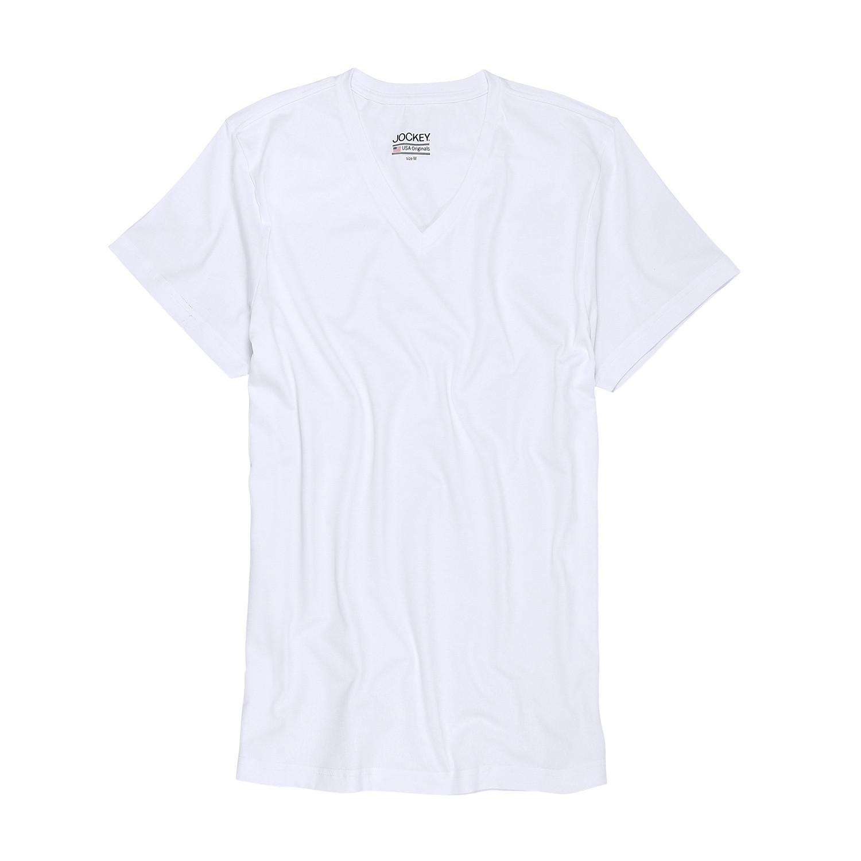 Detailbild zu Weißes V-Shirt von JOCKEY // Bis Größe 6XL