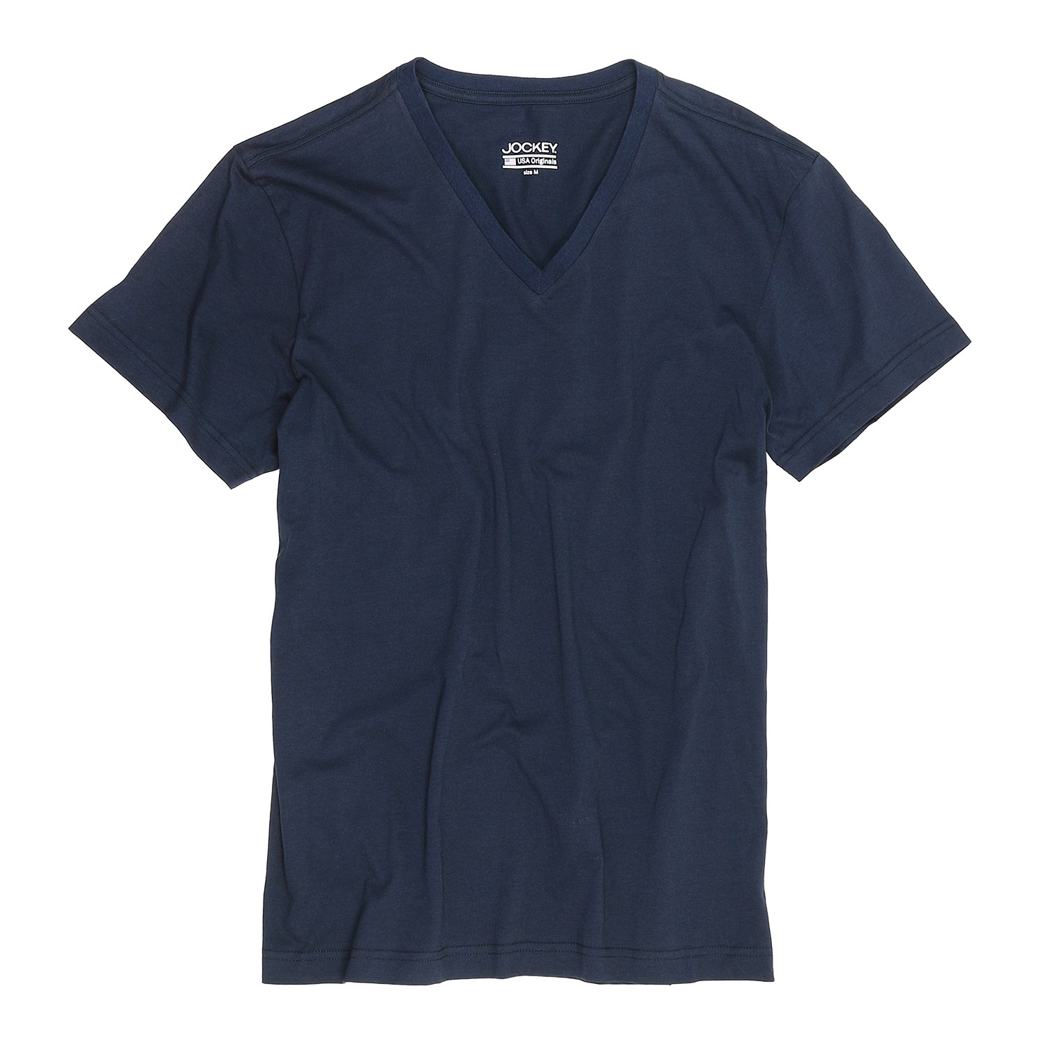 Detail Image to T-shirt with v-neck from Jockey in oversize until 6XL, dark blue