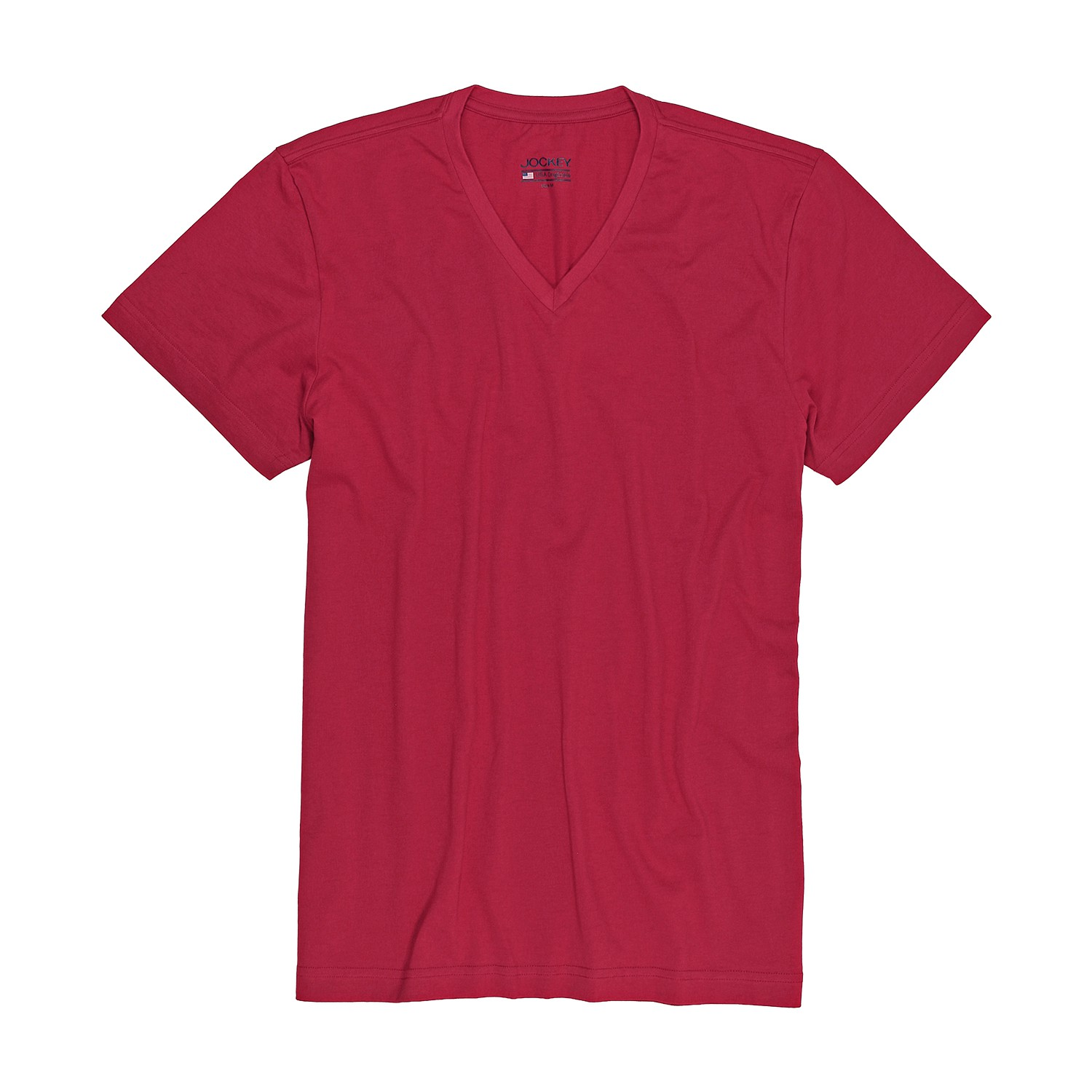 Detail Image to T-shirt with v-neck from Jockey in oversize until 6XL, red
