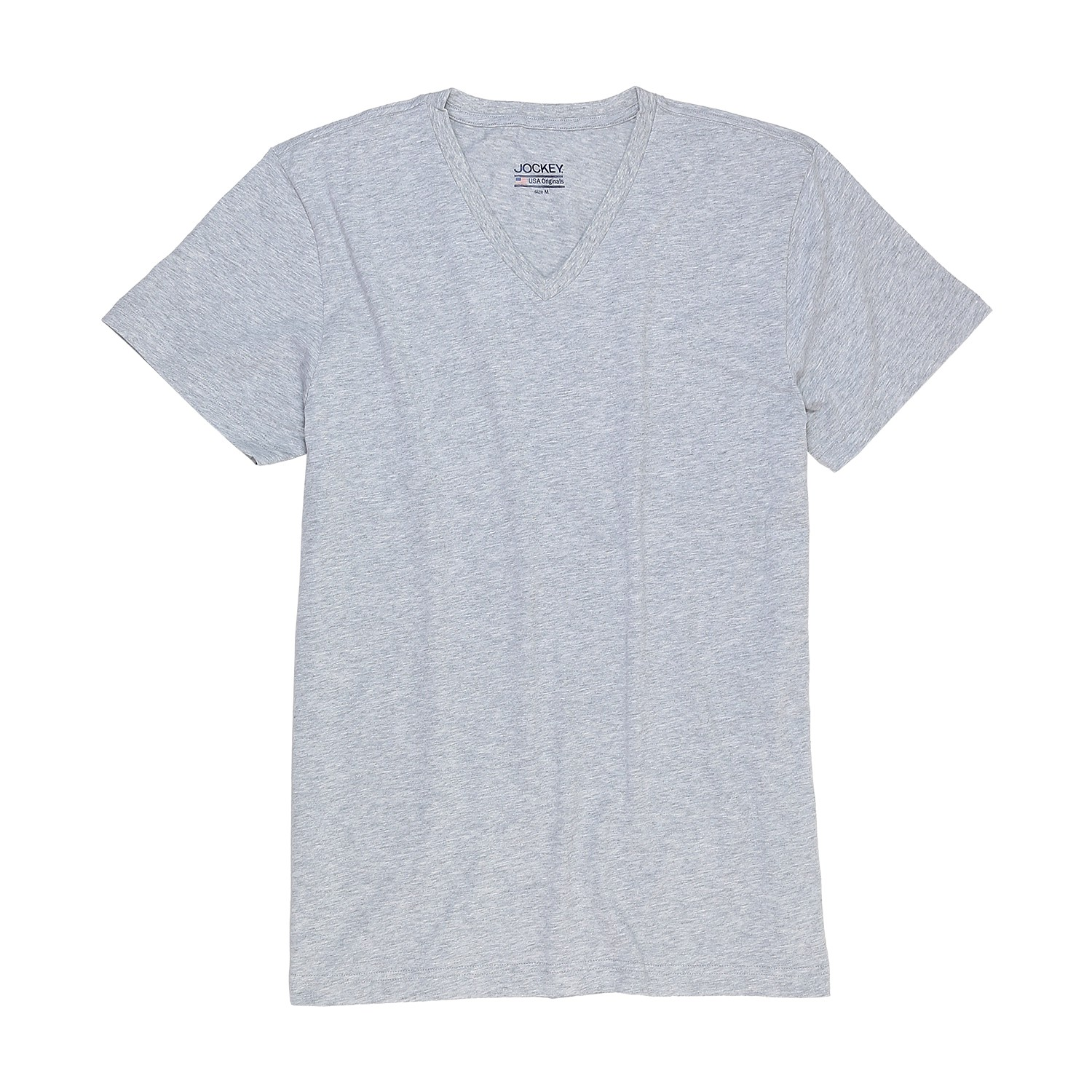 Detail Image to T-shirt with v-neck from Jockey in oversize until 6XL, grey
