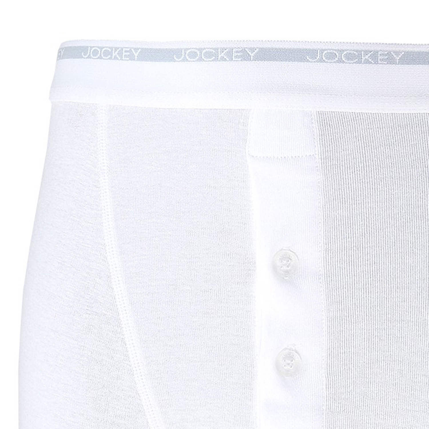 Detail Image to Double pack in white from Jockey in extra large sizes up to 6XL