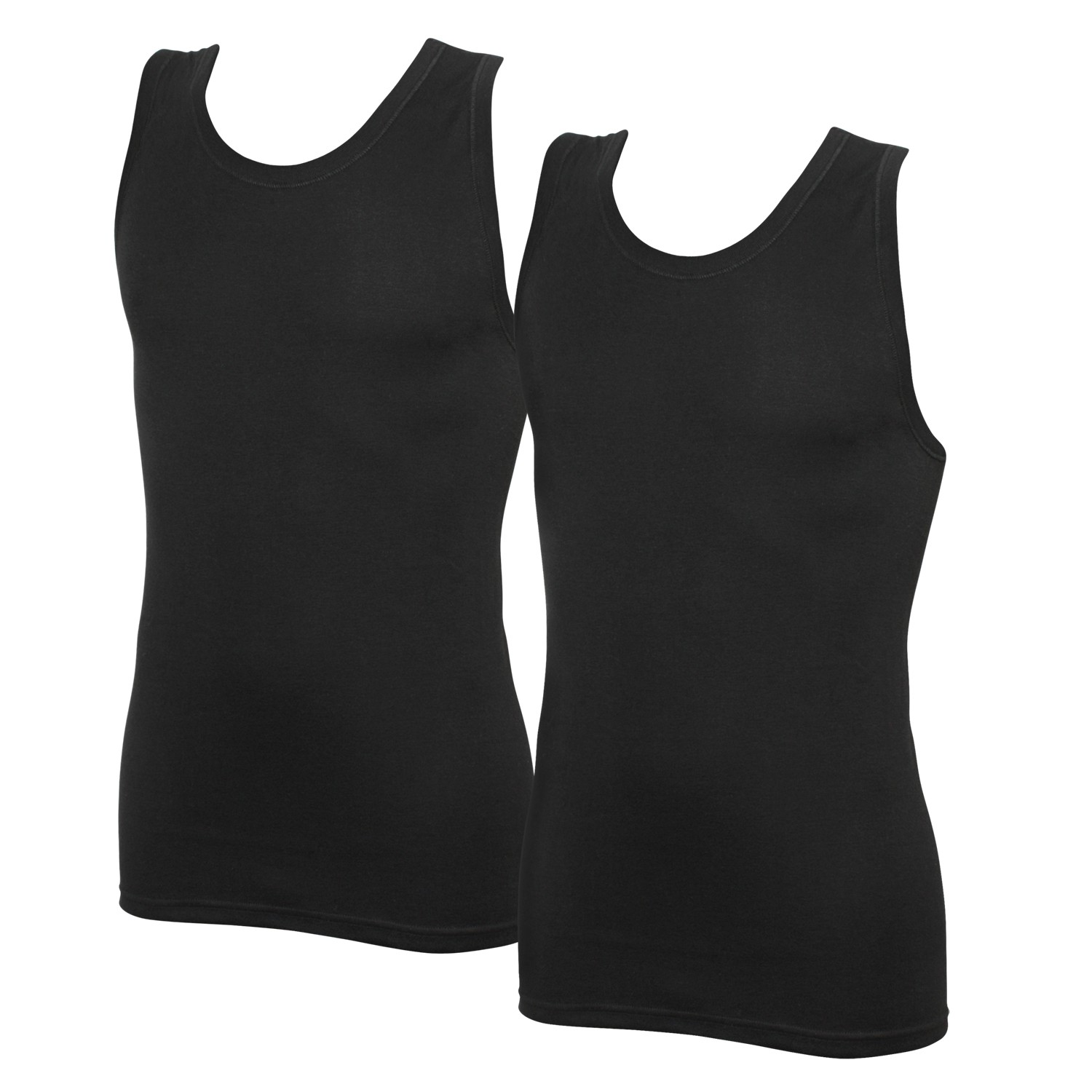 Detail Image to Black sleeveless undershirts double pack from Jockey in oversize until 6XL