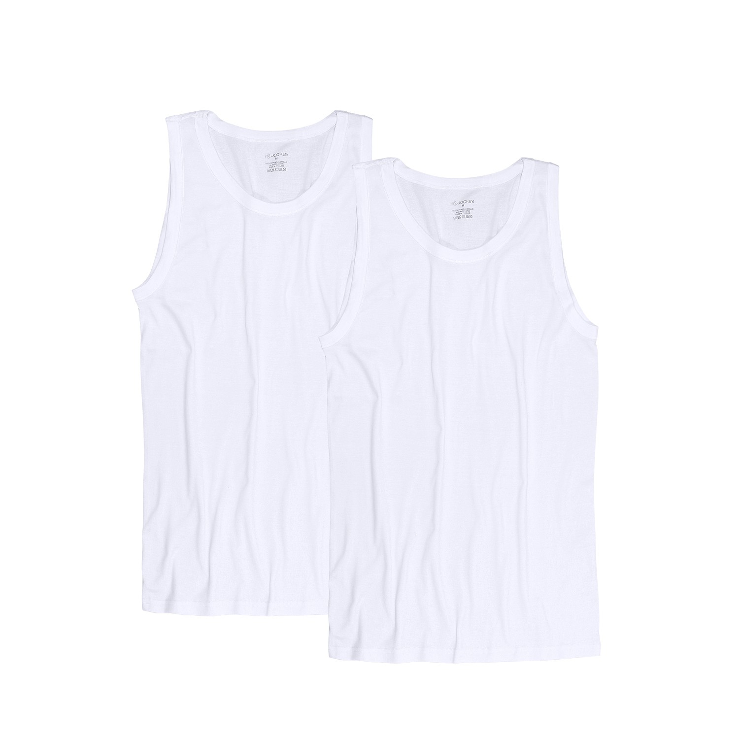 Detail Image to White sleeveless undershirts double pack from Jockey in oversize until 6XL