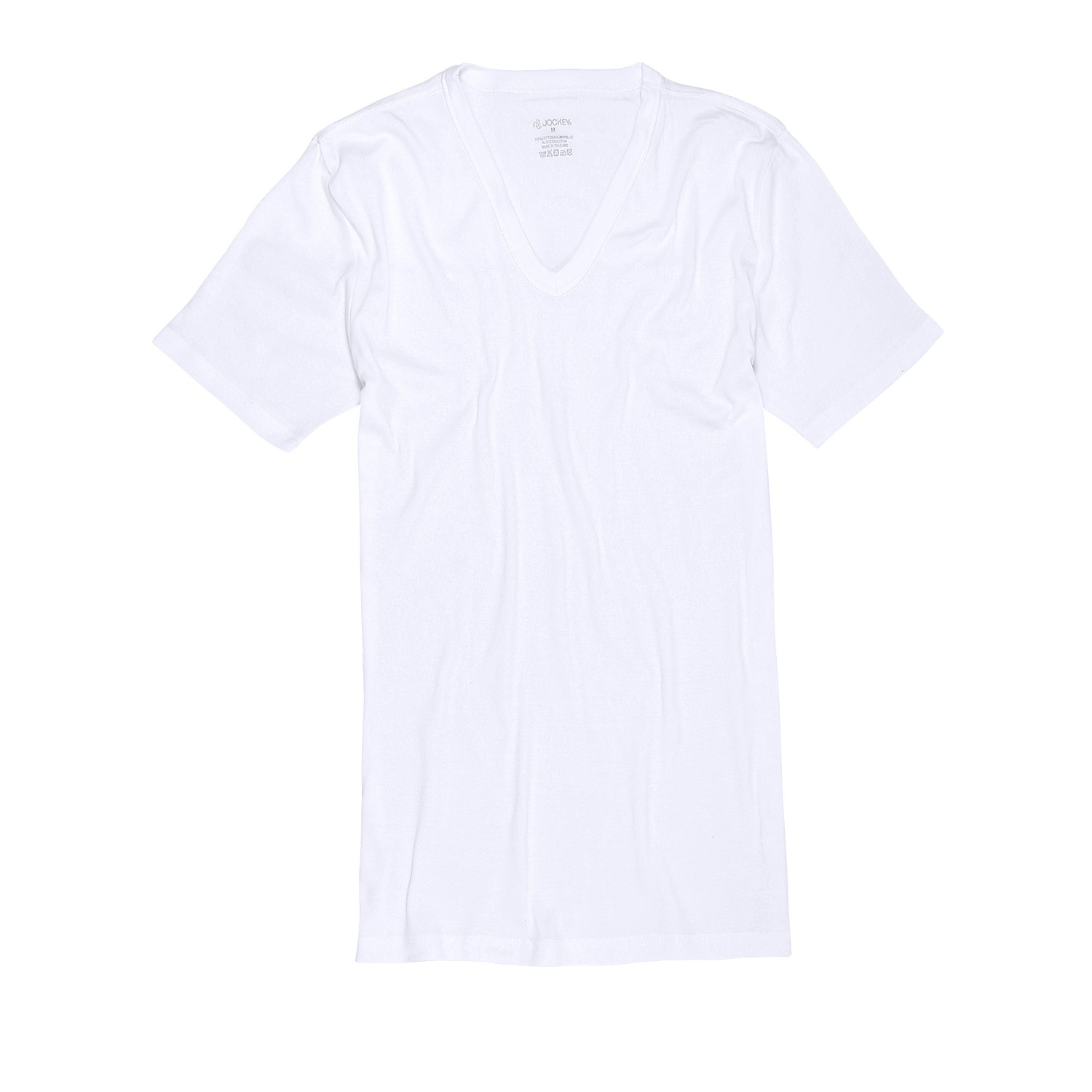 Detail Image to White undershirts with v-neck double pack from Jockey in oversize until 6XL