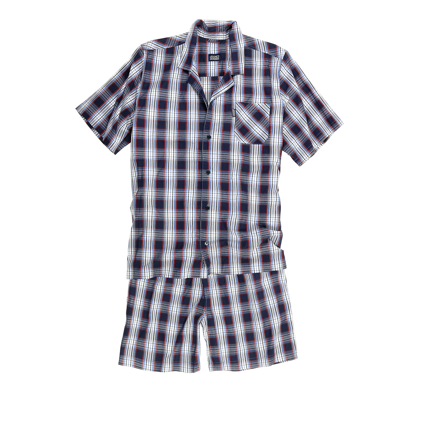 Detail Image to Short Pyjama for men by Jockey checked / size S up to oversize 6XL
