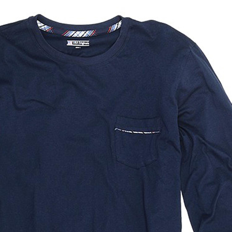 Detailbild zu Langer Herren Pyjama dunkelblau kariert von Jockey in Normal-und Übergrößen S - 6XL und Langgrößen 98 - 110