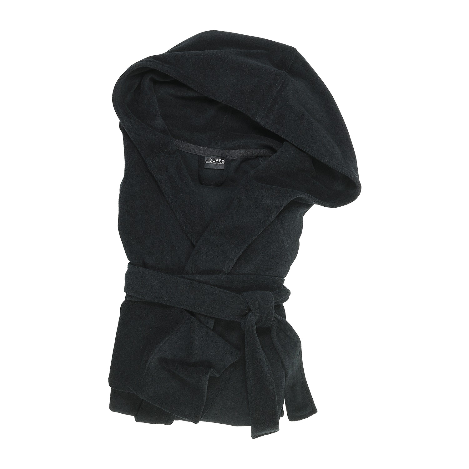 Detail Image to Bathrobe from Jockey in extra large sizes up to 6XL in black with hood