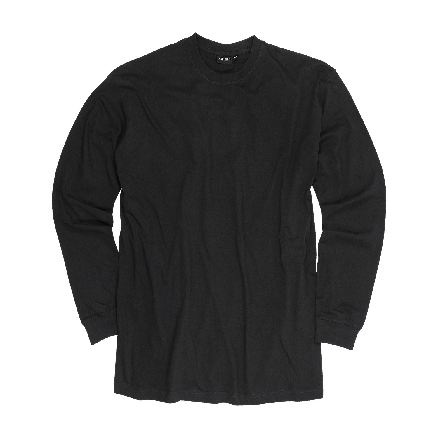 Detail Image to Black sweatshirt by Redfield in plus sizes up to 8XL
