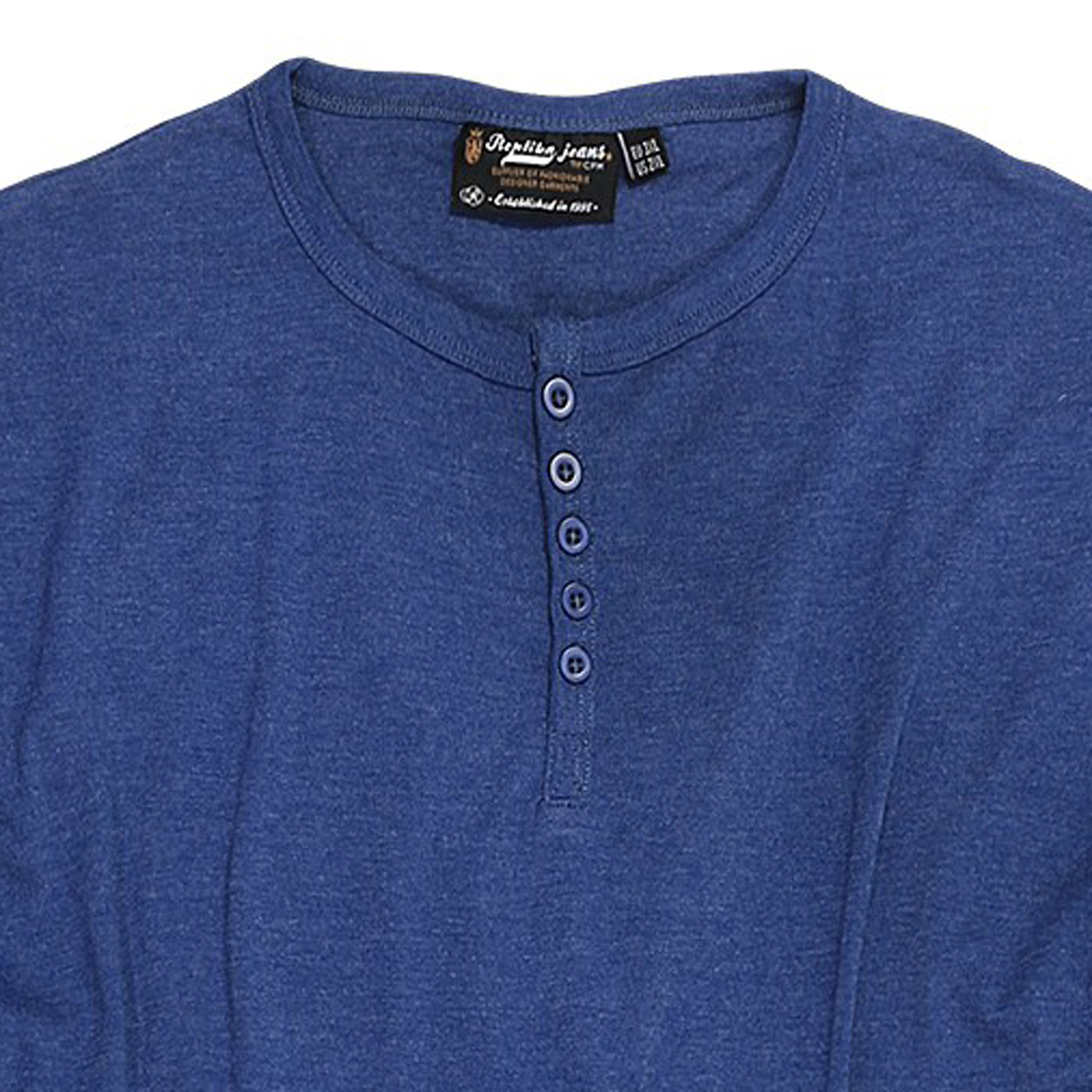 Detail Image to Blue Shirt in oversize up to 8XL