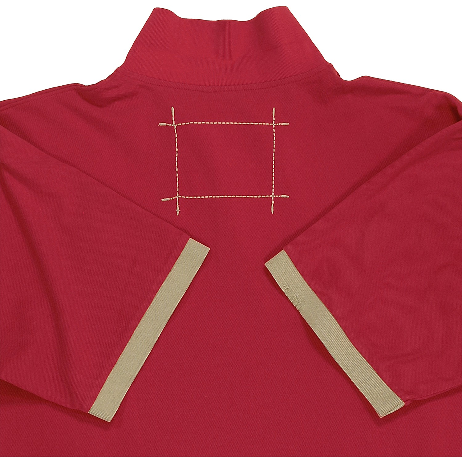 Detail Image to Red Poloshirt in oversize up to 6XL