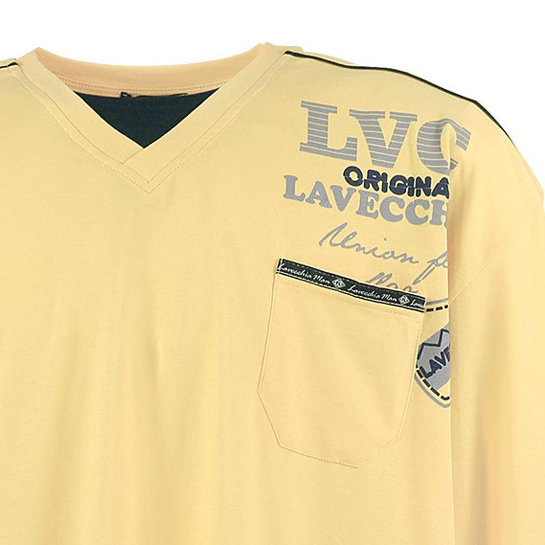 Image de détail de Sweat-shirt jaune de Lavecchia grandes tailles jusqu'au 7XL