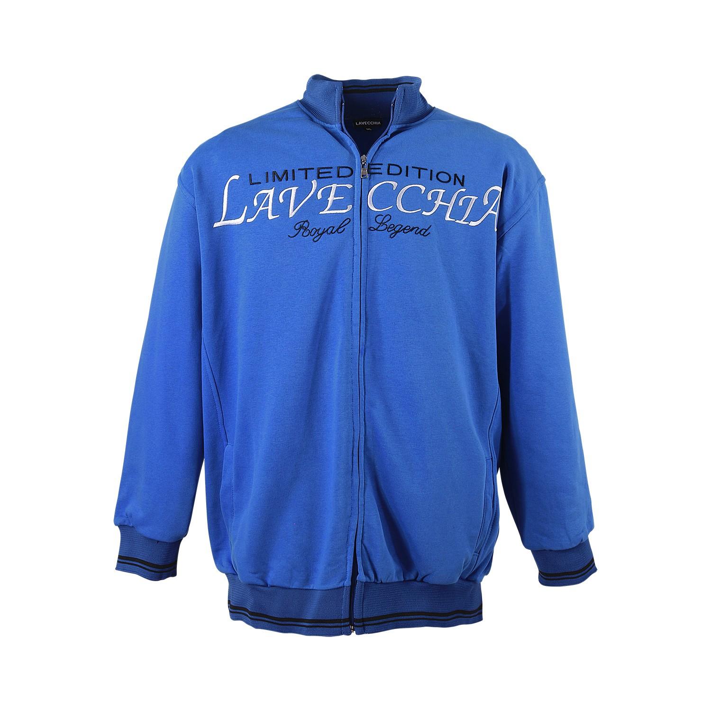 Detailbild zu Sweatjacke von Lavecchia in royalblau bis 8XL in Übergrößen