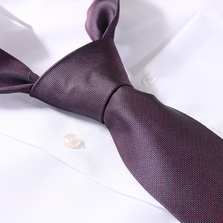 Detailbild zu Übergrößen Krawatte in Einheitsgröße 168cm, 100% Seide - rot/grau