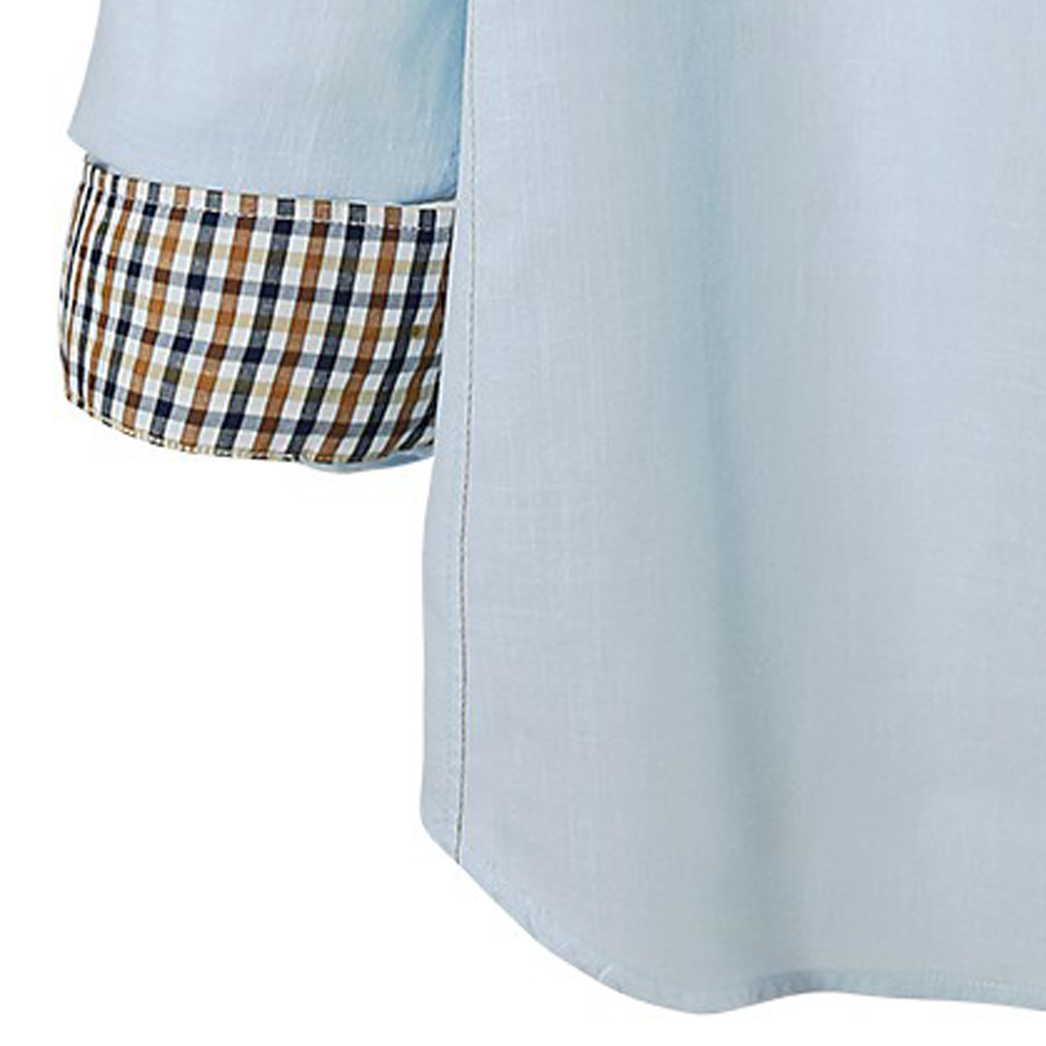 Detail Image to Shirt in light blue by Lavecchia in oversizes up to 7XL