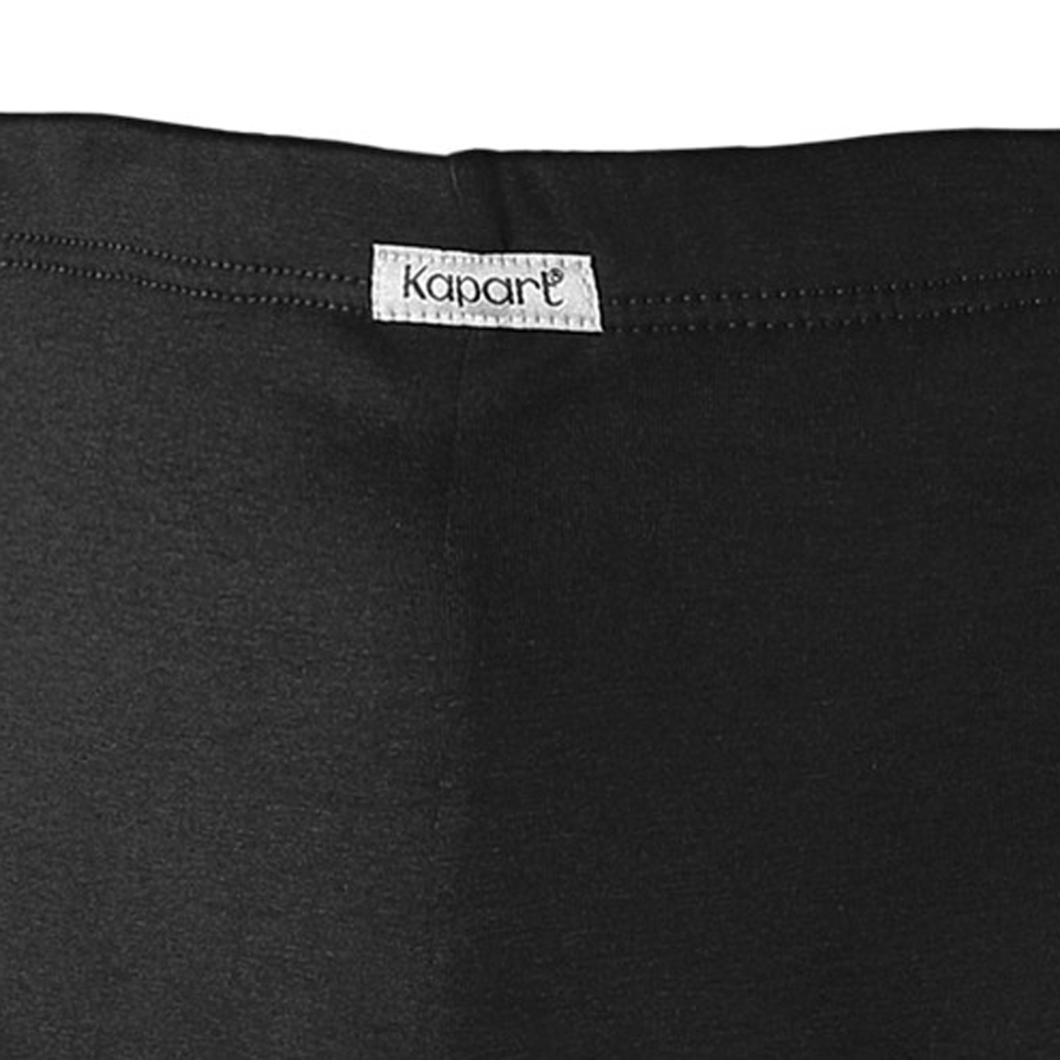 Detail Image to Underwear pant black in oversize by Kapart up to size 16