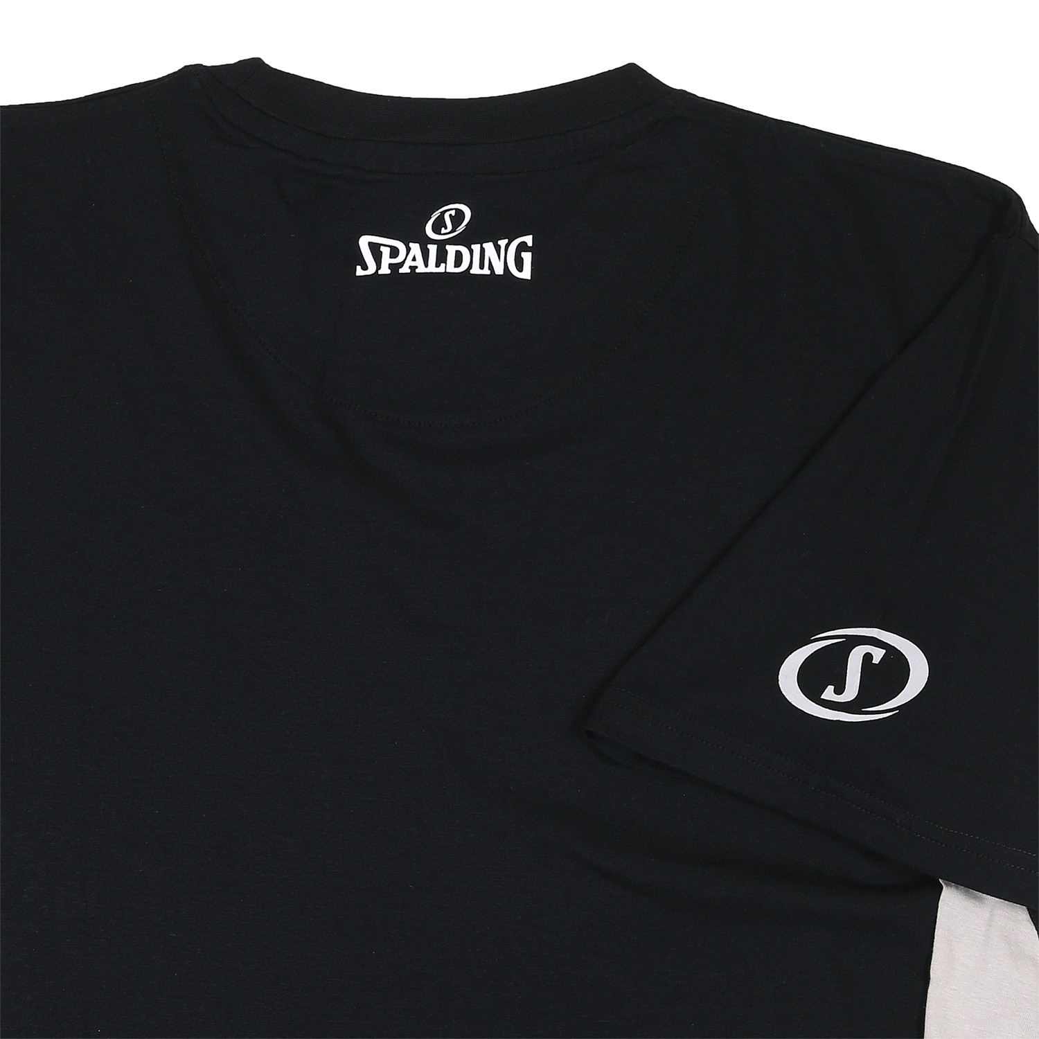 Detail Image to Shirt in oversize by Spalding black up to 4XL