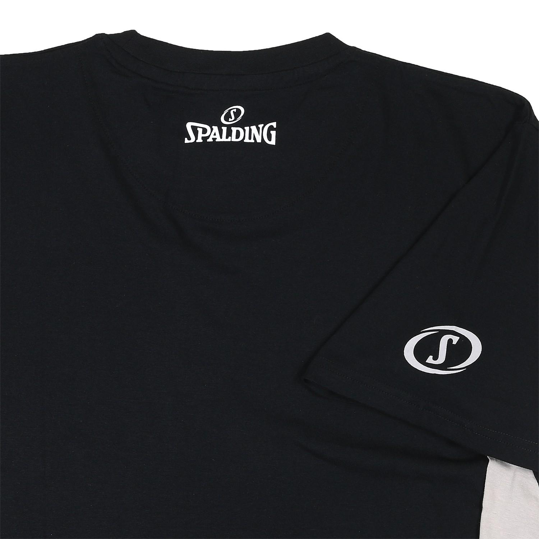 Detailbild zu Spalding Authentic T-Shirt schwarz in Übergrößen 2XL bis 4XL