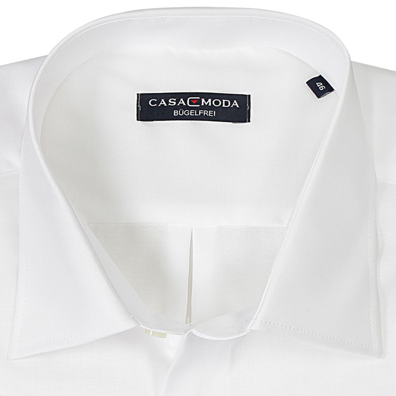Detail Image to White shirt by Casamoda in plus size up to 7XL