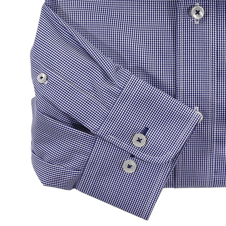 Detailbild zu Blau kariertes Hemd (langarm) von Casa Moda in Übergrößen bis 7XL