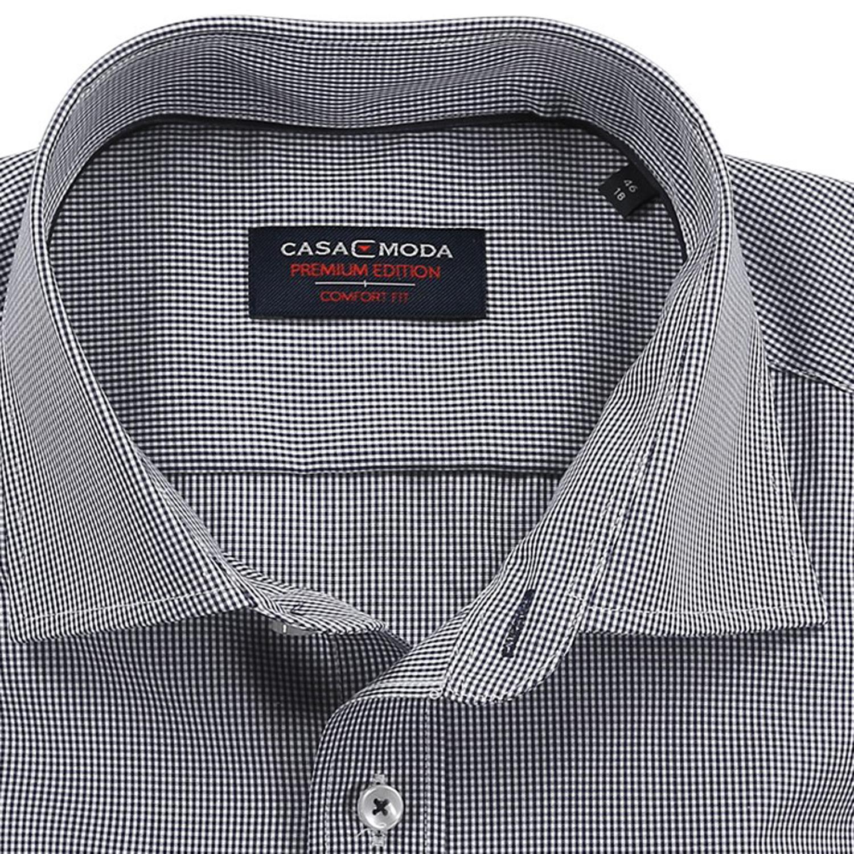 Detailbild zu Schwarz kariertes Hemd von Casa Moda (langarm) in Übergrößen bis 7XL