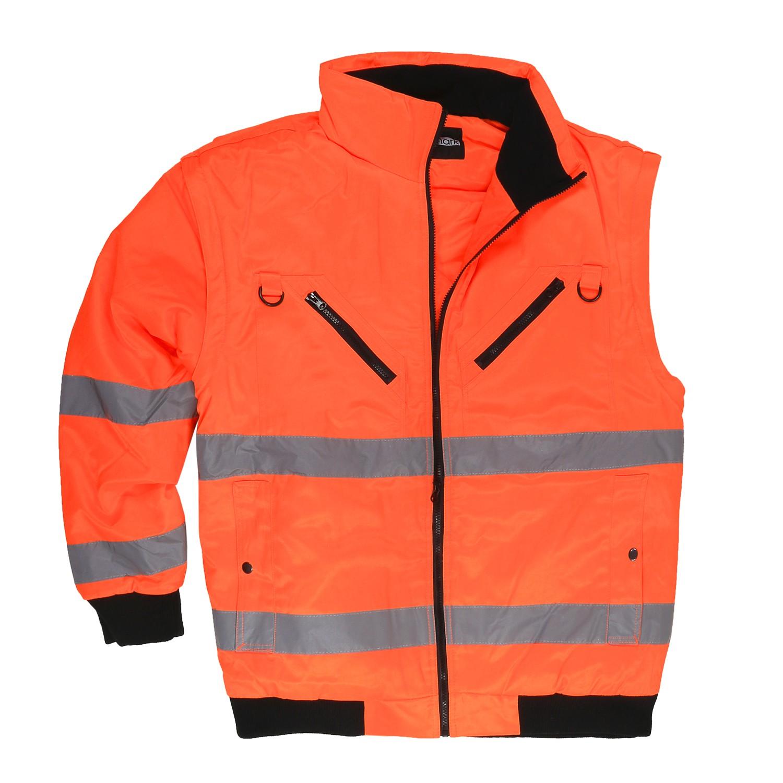 Detailbild zu Übergrößen Warnschutz Arbeitsjacke und -weste von marc&mark in neonorange / 3XL-10XL