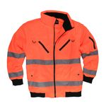 Working jacket in day-glo yellow by marc&mark in extra large sizes up to 10XL