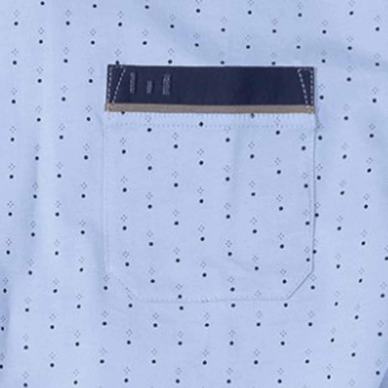 Detailbild zu Hellblau gepunkteter Schlafanzug mit V-Ausschnitt kurz / Götzburg in Übergrößen bis 9XL