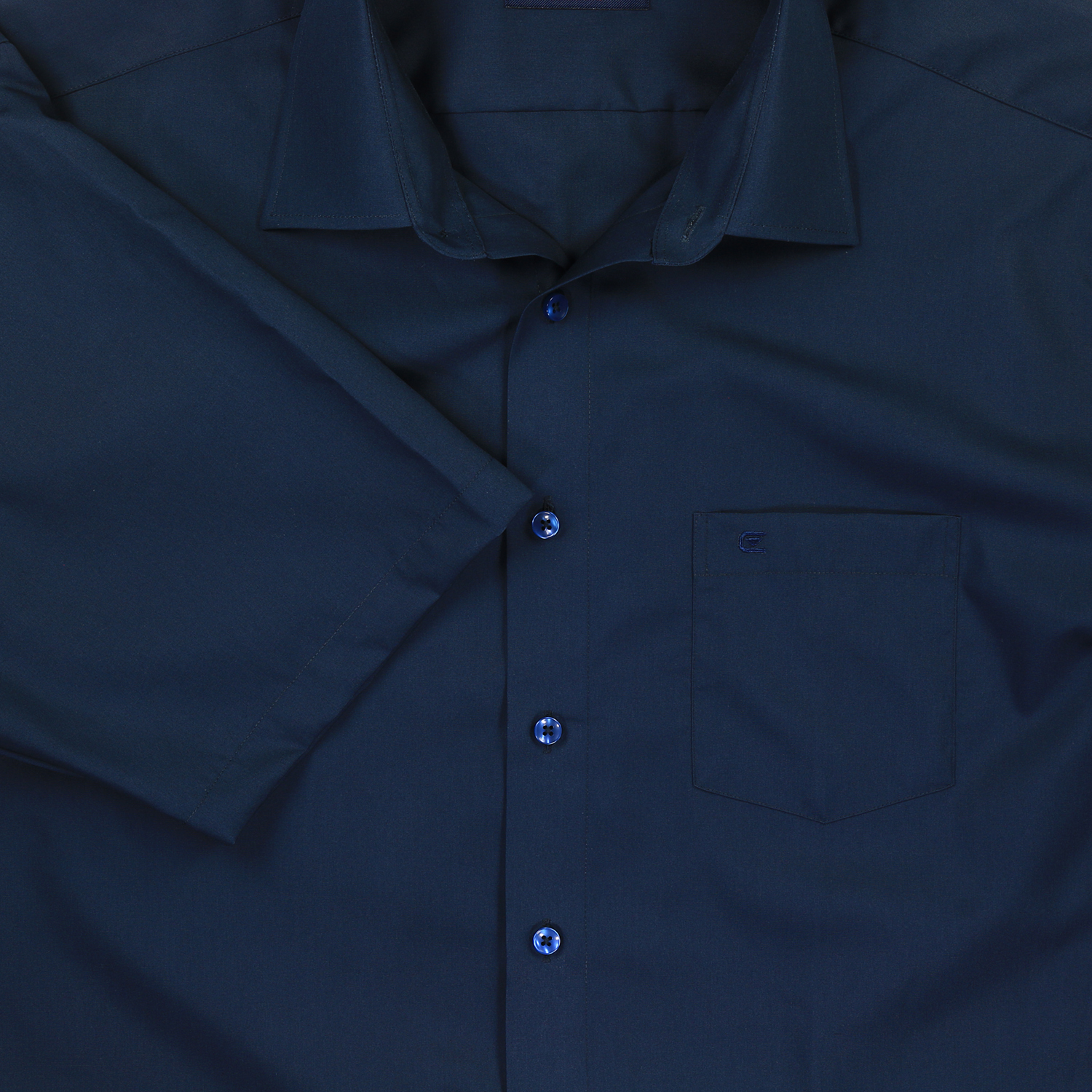 Detail Image to Blue shirt short by Casamoda in plus size up to 7XL