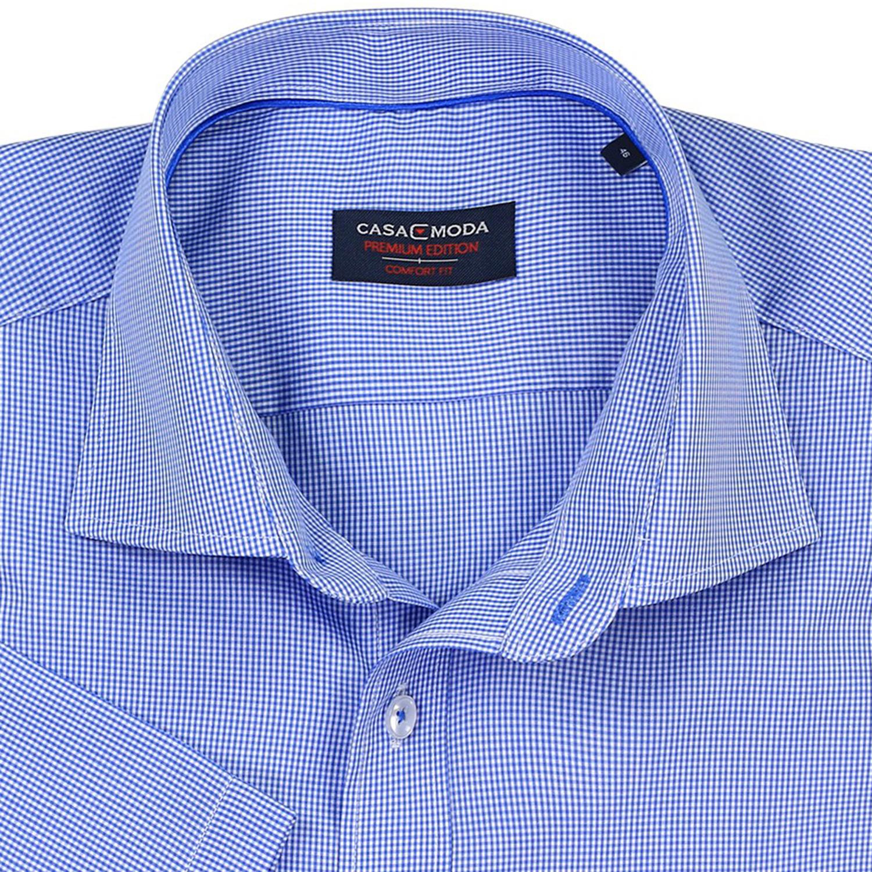 Detailbild zu Casa Moda Hemd mit Karos, kurzarm in blau, Übergrößen bis 7XL