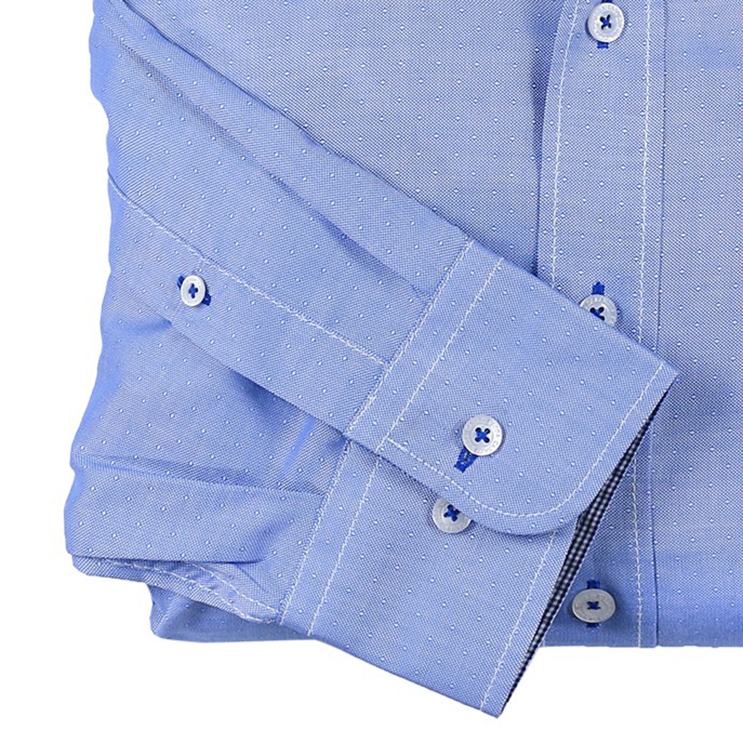 Detail Image to Shirt long by Casamoda, blue, in plus size up to 7XL