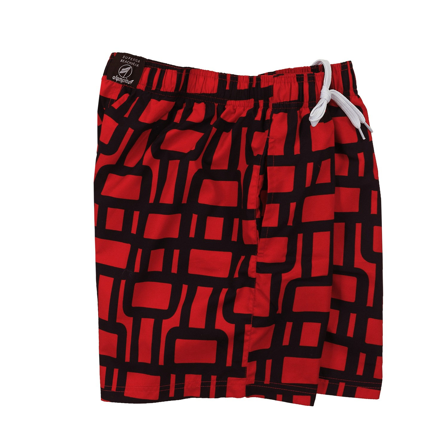 Detail Image to Swimming Trunks by Olympia, blue/ red, in plus size up to 8XL