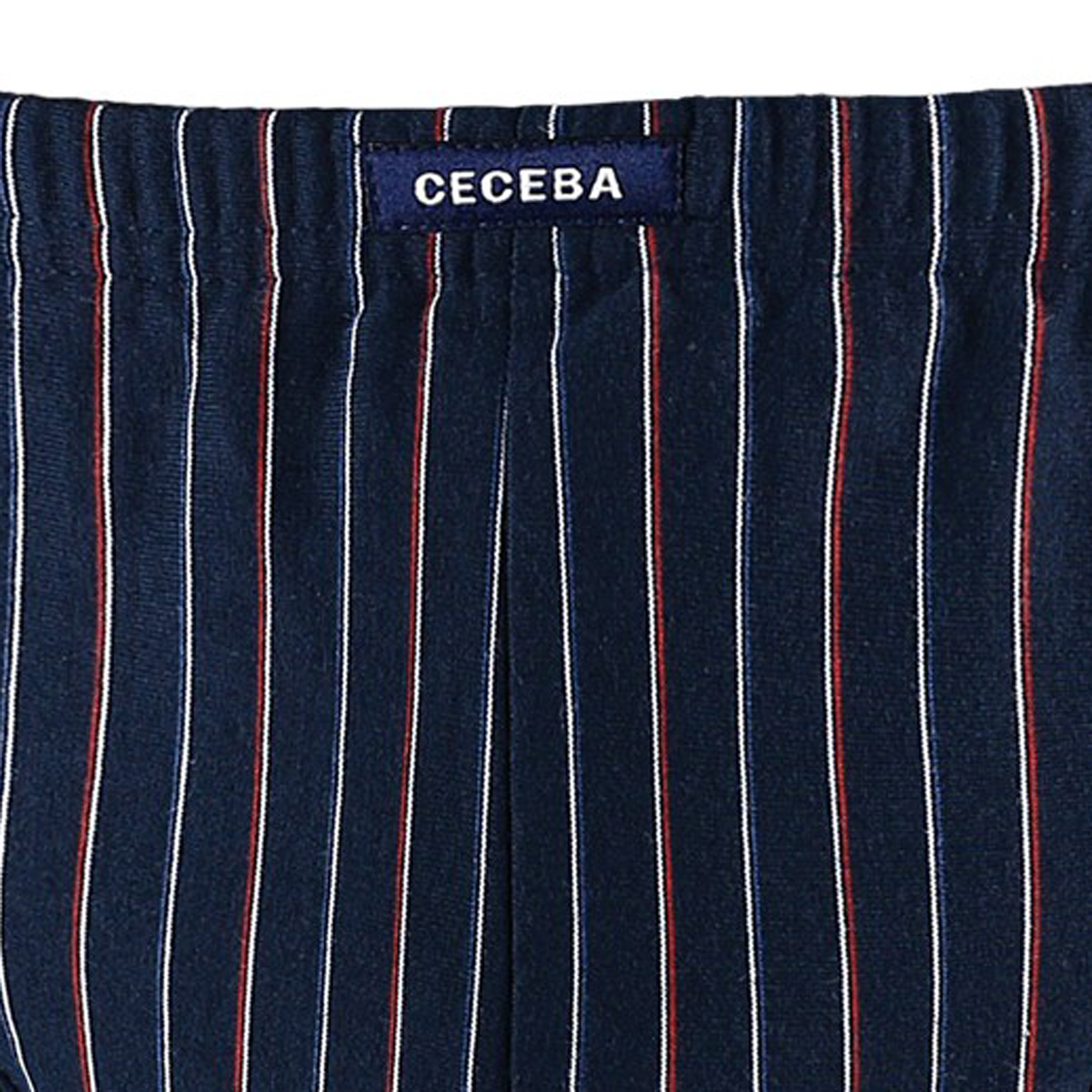 Detail Image to Briefs in navy and navy-red striped by Ceceba up to oversize 18 / pack of 3