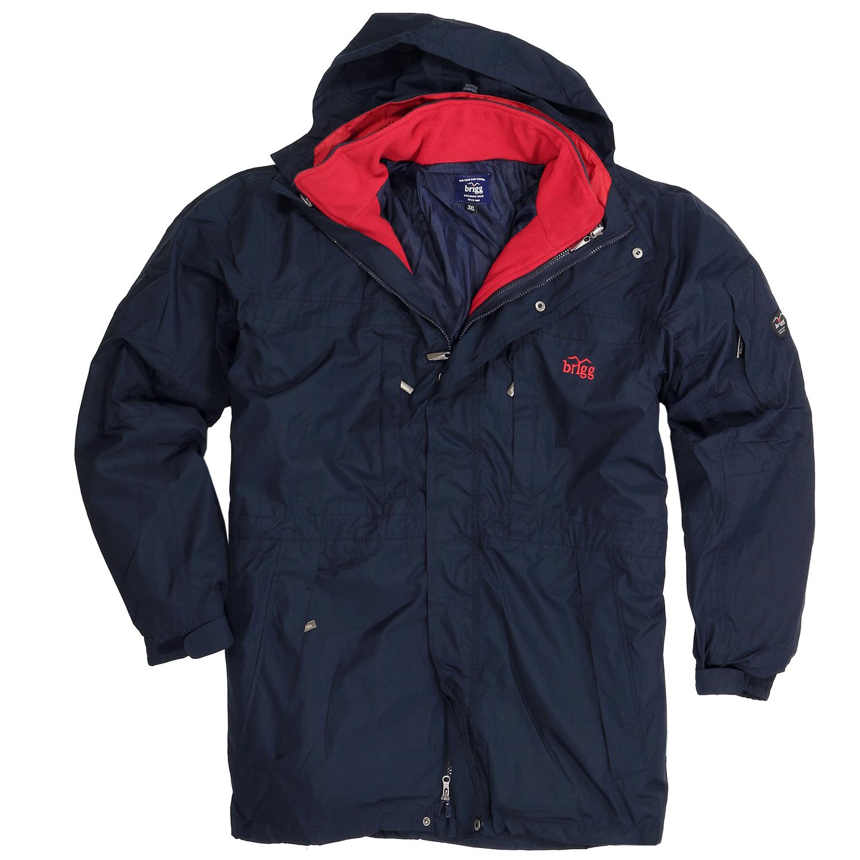 Detailbild zu Brigg 3 in 1 Outdoor-Jacke in großen Größen, navy, bis 10XL