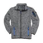 Mittelgrau melierte Fleece-Jacke in Strickoptik by Brigg - bis Größe 10XL