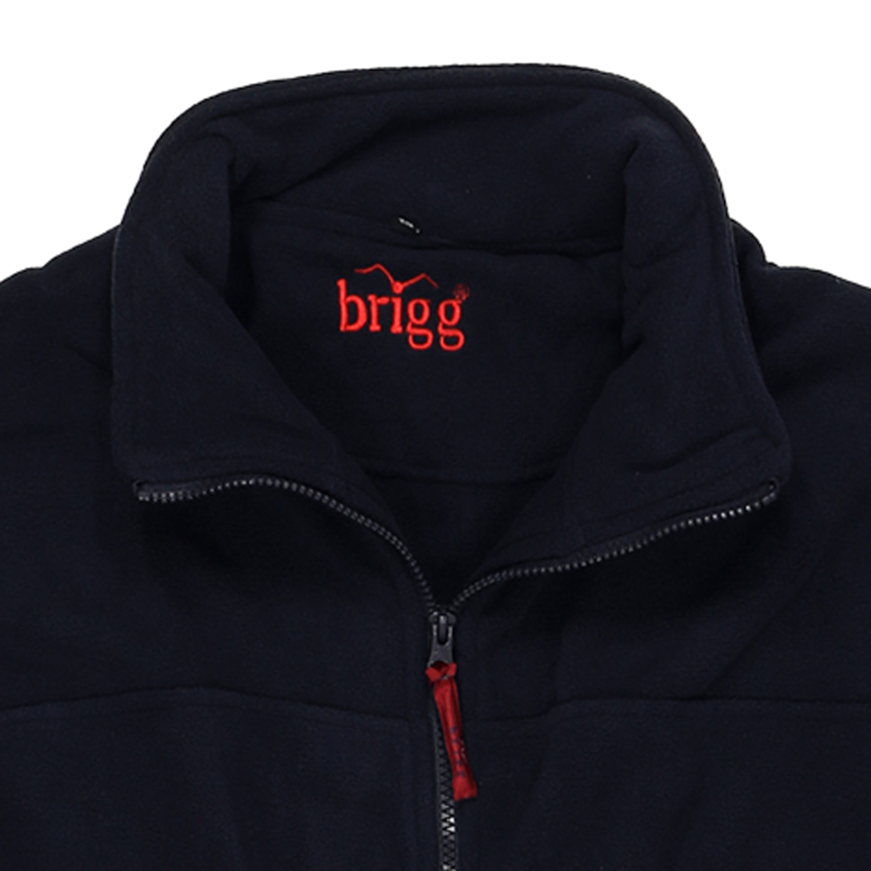 Detailbild zu Marineblaue Fleecejacke von Brigg in großen Größen bis 14XL