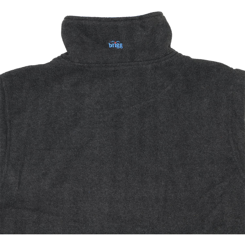 Detailbild zu Große Größen Fleecejacke mit Reißverschluss in grau-blau von Brigg bis 14XL