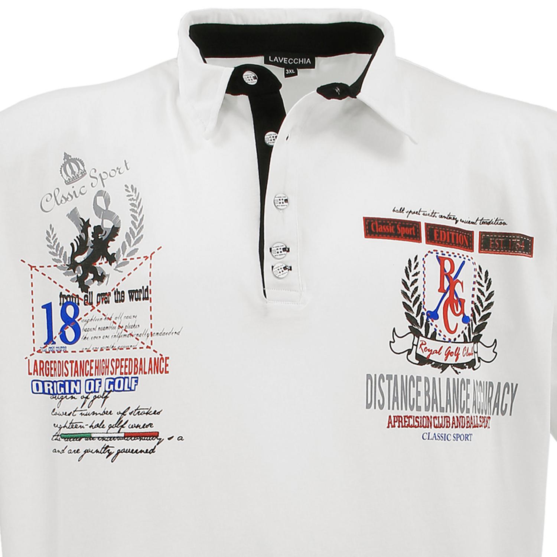 Detailbild zu Polo-Shirt Cremeweiß von Lavecchia in Übergröße bis 8XL