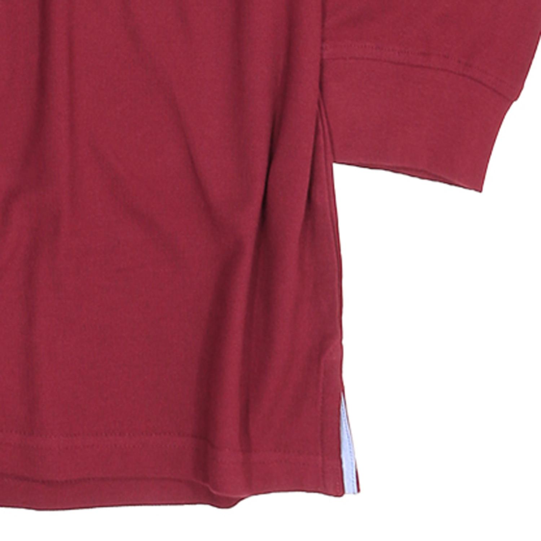 Detailbild zu Langarm Pique-Poloshirt in rubinrot von Redfield in großen Größen