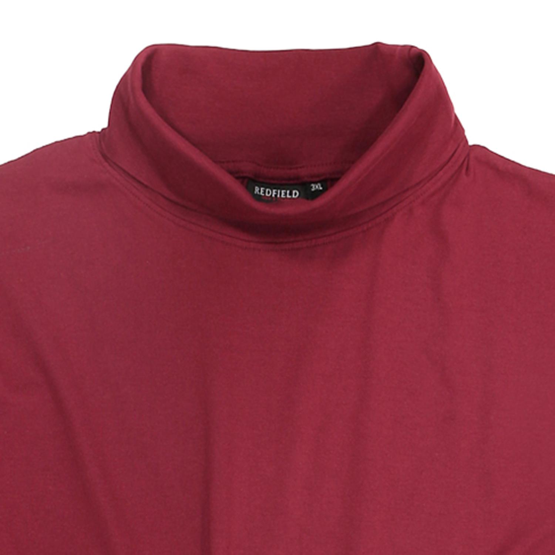 Detailbild zu Rubinrotes große Größen Rollkragenshirt von Redfield bis 8XL