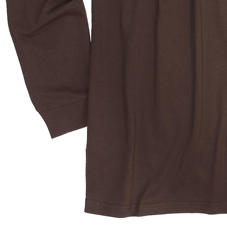 Detailbild zu XXL Shirt mit Rollkragen in braun, Redfield bis Übergröße 8XL