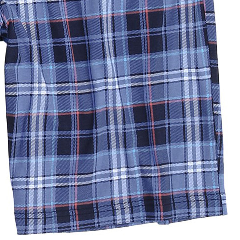 Detailbild zu Blau karierte Pyjama-Bermudas von Jockey - große Größen bis 6XL