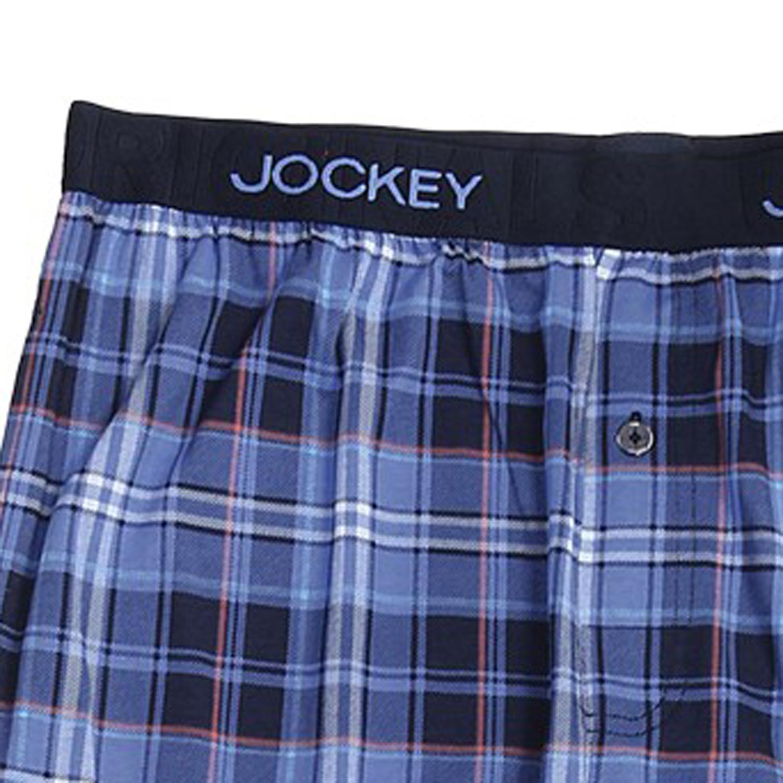 Detailbild zu Lange Pyjama-Hose blau kariert von Jockey in den Größen S bis 6XL