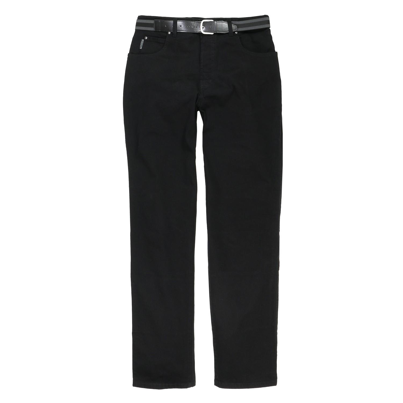 Detailbild zu Schwarze Jeanshose mit Gürtel von Pionier, große Größen
