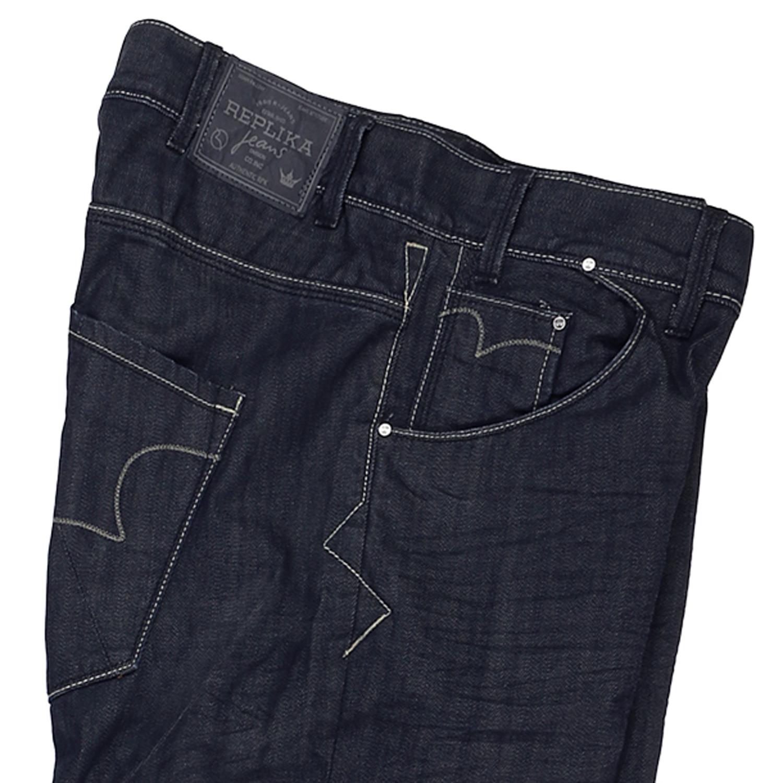 Detailbild zu Dunkelblaue Jeans von Replika - in Übergrößen