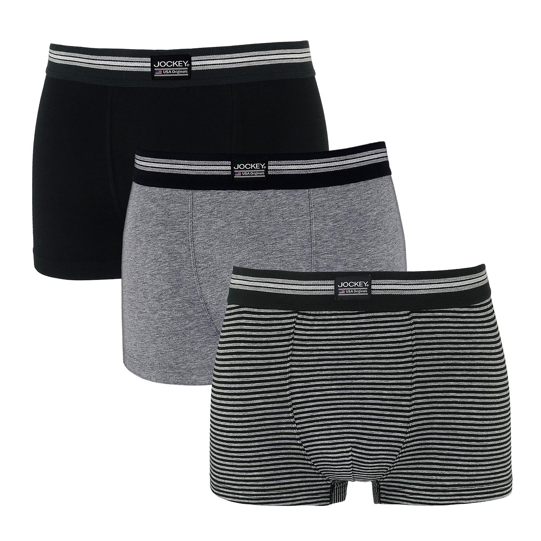 Detailbild zu XXL Dreierpack Pants für Herren - schwarz/ gestreift ab S bis 3XL